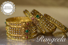 Rangeela plated bangle set of 6