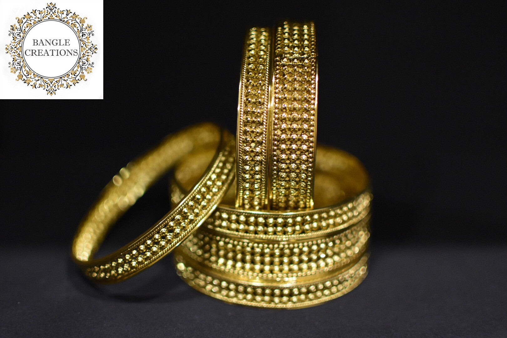 Manaka Gold Medal Plated Bangle set of 6