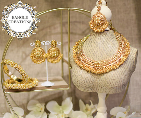 Indian Inspired Jewellery Set with Bangles