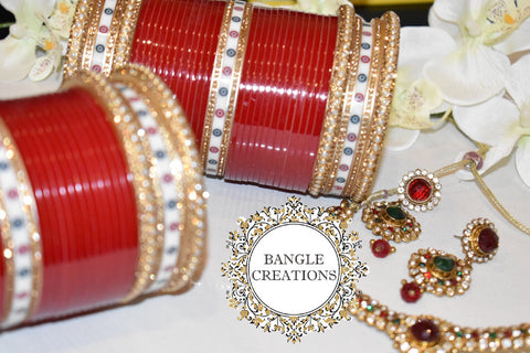 Bridal Chura set (both pairs + keepsake box)