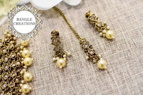 Indian Inspired Jewellery Set (Cream)