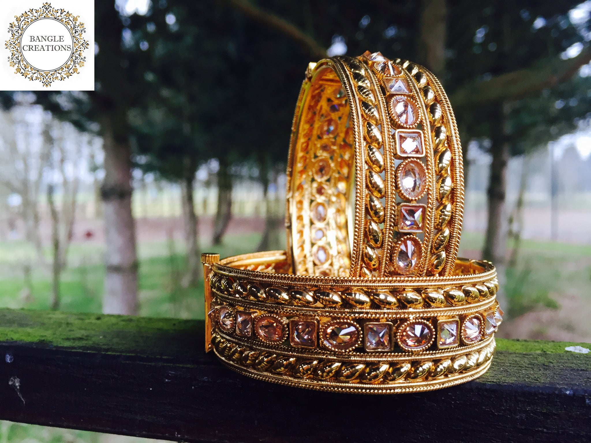 GOLD PLATED BANGLES<