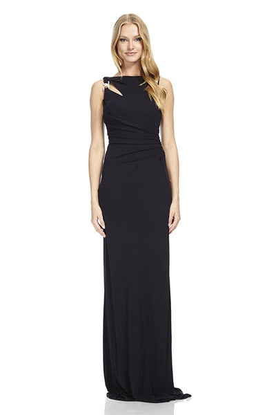 Jersey Gown with Rhinestone Detail