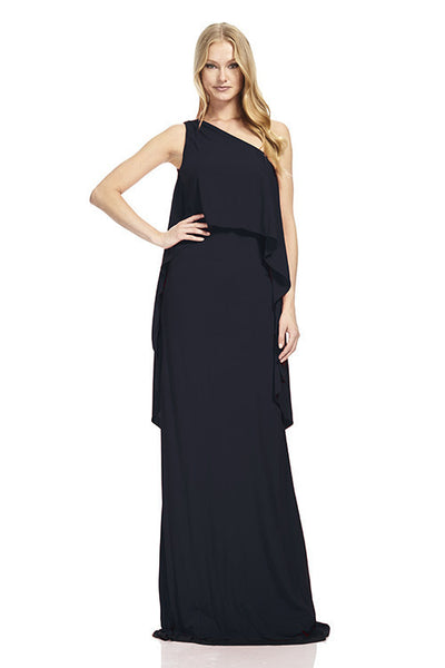 Sleeveless One Shoulder Jersey Gown