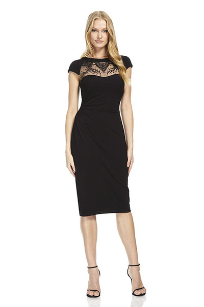 Cap Sleeve Rayon Cocktail Dress