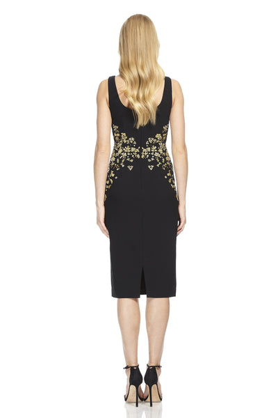 Crepe Sheath with Beaded Detail