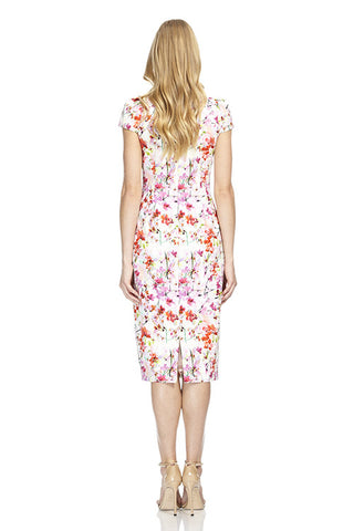 Cap Sleeve Printed Dress