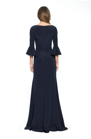 3/4 Trumpet Sleeve Gown