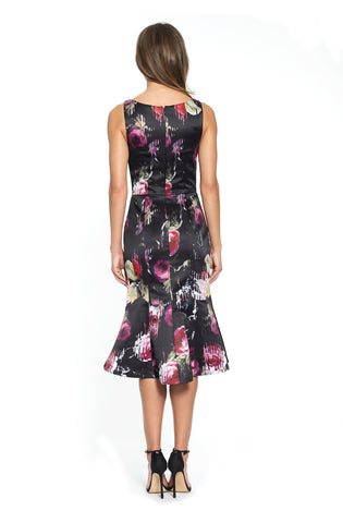 Floral Trumpet Cocktail Dress