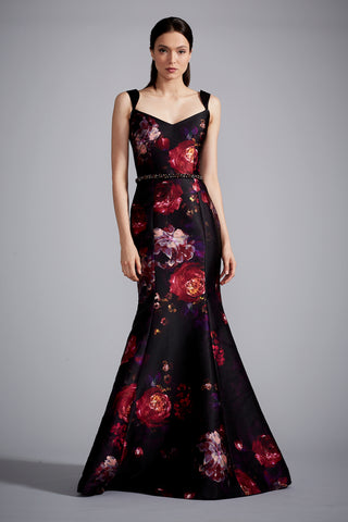 Printed Floral Gown