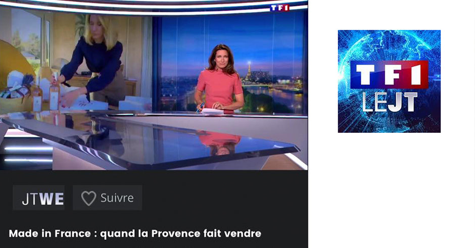 Luxe Provence featured on TF1 le JT