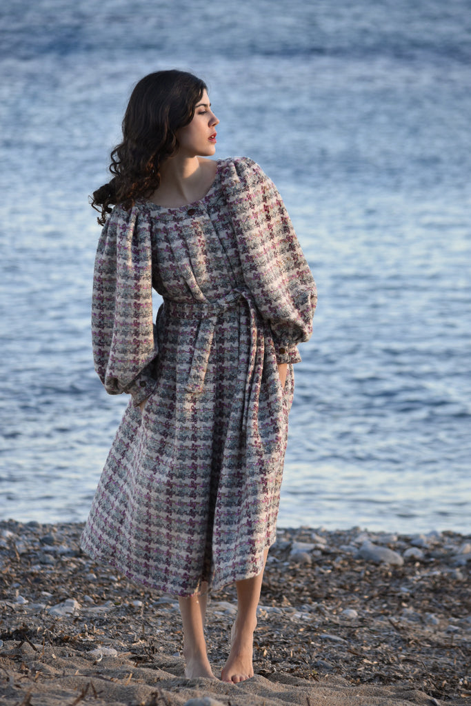 Lili Coat in Wool & Cashmere Tweed