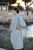 Carine Wool Cashmere Dress  in Grey Chevron (Pre-Order, Ships Mar 10)