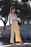 Chloe Linen Trousers in Blé, Blanc or Blush