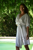 Coco Linen Dress in White (Pre-Order, Ships May 25)