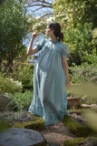 The Venus Nap Dress in Sapphire Linen Gauze (Pre-Order, Ships May 8)