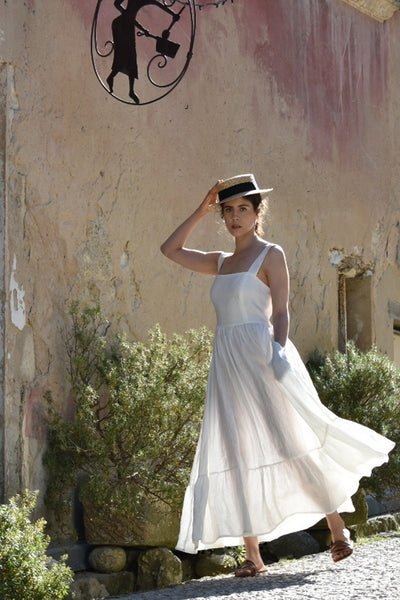 Juliette Dress In White Linen