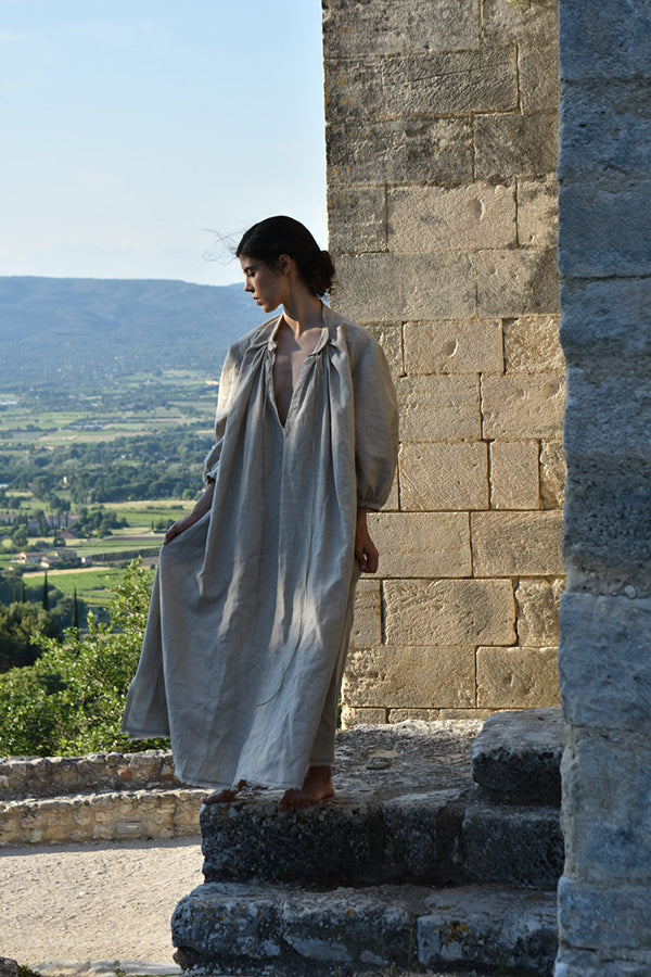 Manon Linen Dress in Flax (Pre-Order, Ships Aug 8)