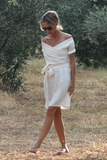 Marguerite White Linen Dress (Pre-Order; Ships Oct 15)