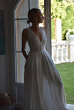 Mina Linen Summer Dress in White (Summer Pre-Order, Ships July 24th)