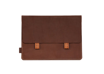 Dark Brown Premium Genuine Leather Pouch/ Sleeve/ cover for iPad Air- 10