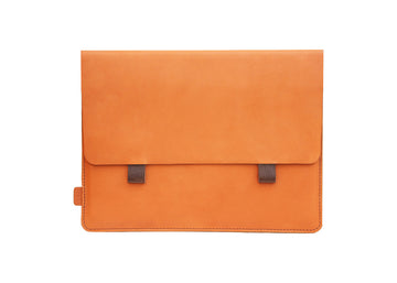 Amsterdam Tan Premium Genuine Leather Pouch/ Sleeve/ cover for iPad mini- 8