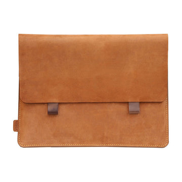 Camel Brown Premium Genuine Leather Pouch/ Sleeve/ cover for iPad Air - 10