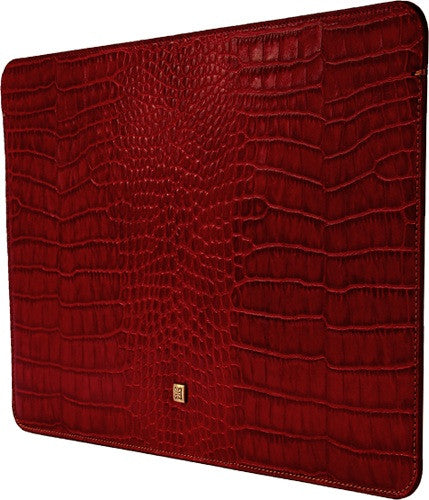 MacBook Air Red Croco Premium Leather Sleeve - VORYA