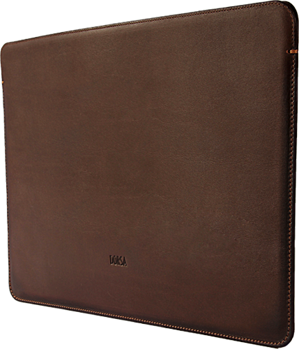MacBook Air Dark Brown Cowboy Premium Leather Sleeve - VORYA