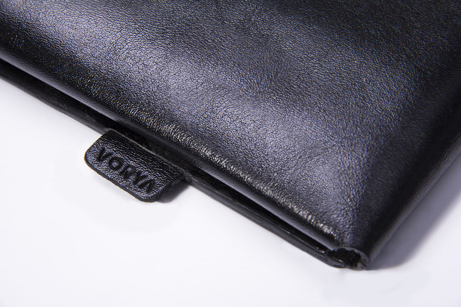 Nero Black Premium Leather Cover for MacBook Retina 13