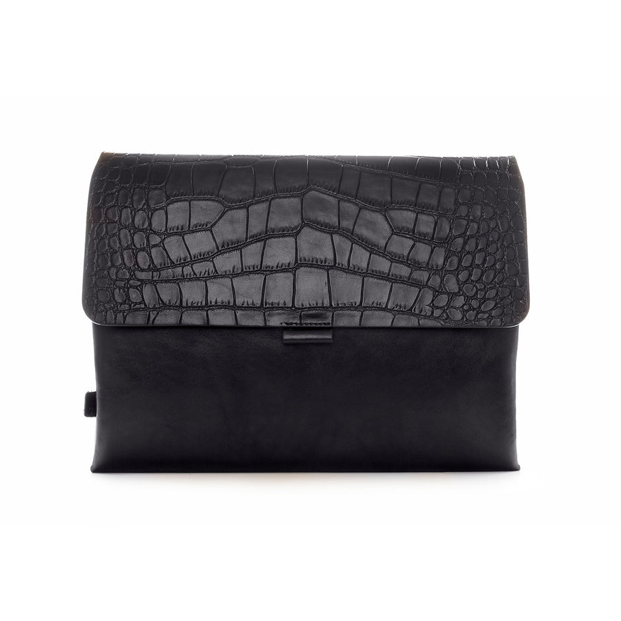 Black Croco Premium Leather Cover for MacBook Retina 13