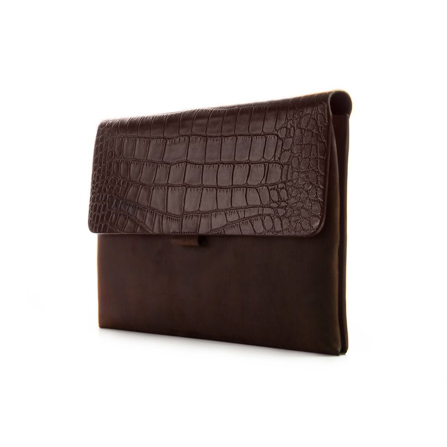 Brown Croco Premium Leather Cover for MacBook Retina 13