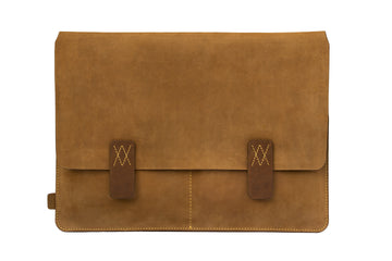 Camel Brown Premium Natural Leather Portfolio / Cover for MacBook Retina 13