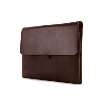 Chocolate Brown Premium Leather Cover for MacBook Retina 13