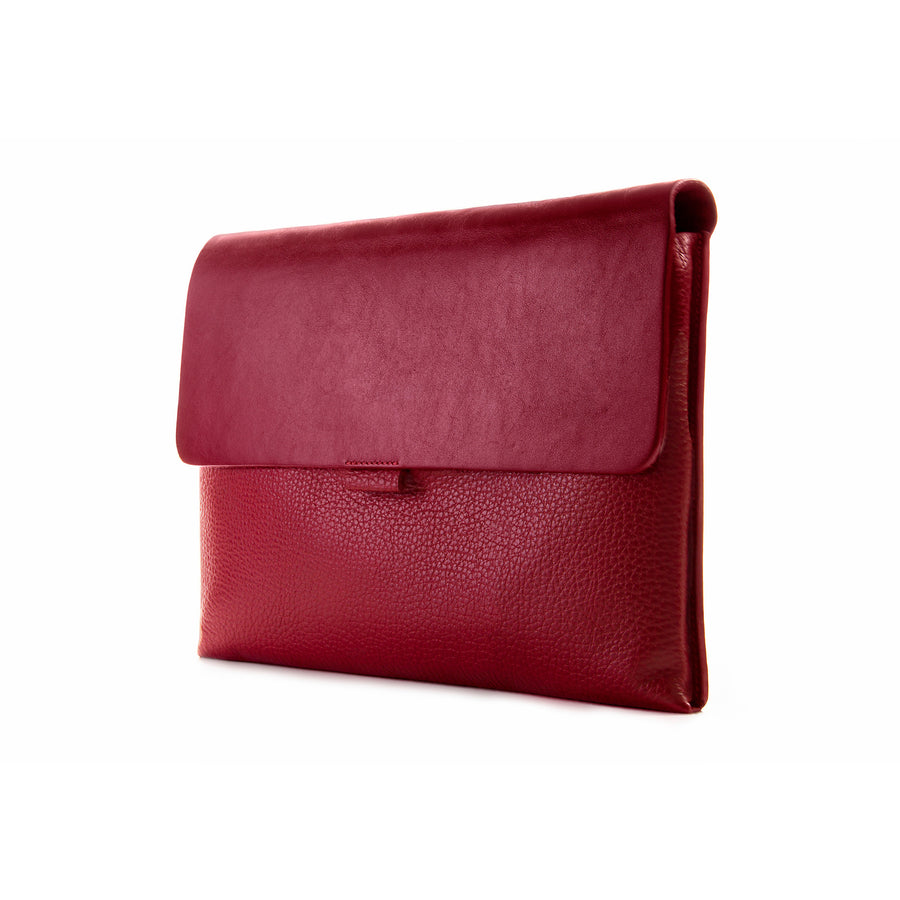 Crimson Red Premium Leather Cover for MacBook Retina 13