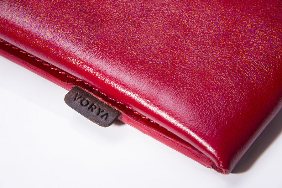 Red Corco Premium Leather Cover for MacBook Retina 13