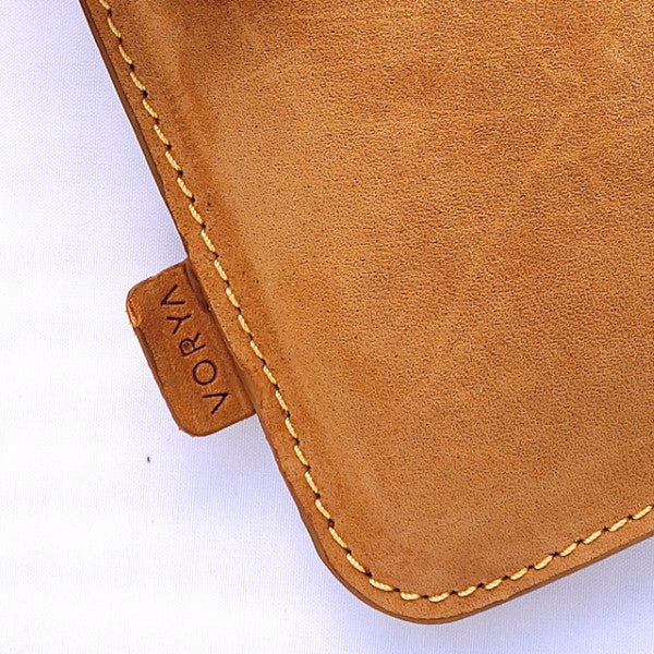 Camel Brown Premium Genuine Leather Pouch/ Sleeve/ cover for iPad Mini - VORYA