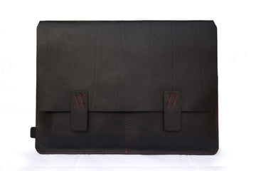 Nero Black (R) Premium Natural Leather Portfolio / Cover for MacBook Retina 13