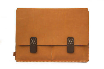 Amsterdam Tan Premium Natural Leather Cover for MacBook Retina 12