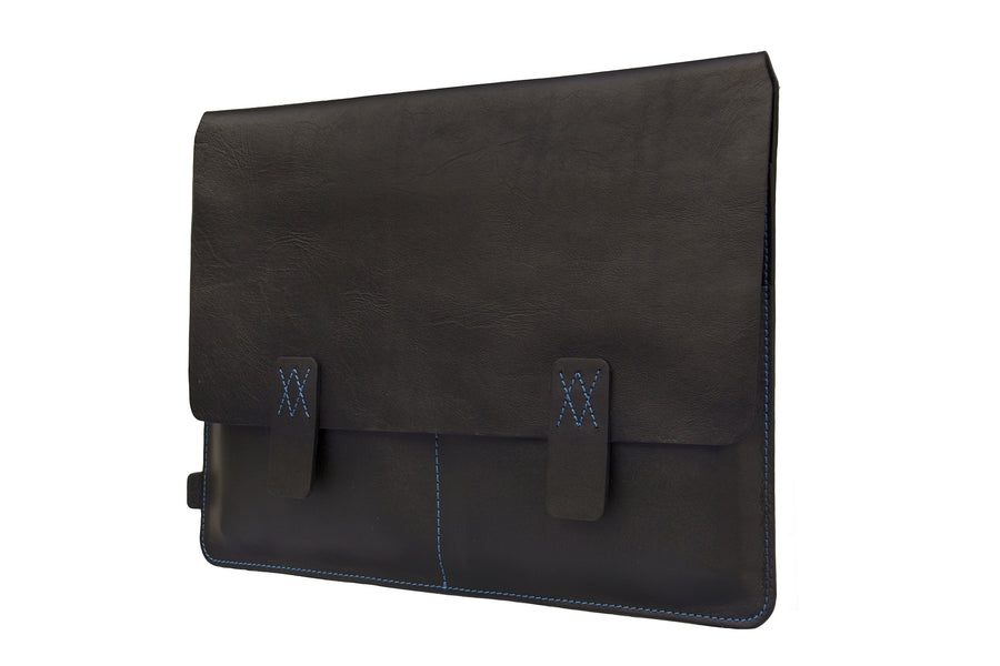 Nero Black Premium Natural Leather Portfolio / Cover for MacBook Retina 13