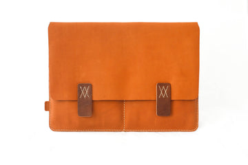 Amsterdam Tan Premium Natural Leather Portfolio / Cover for MacBook Retina 13