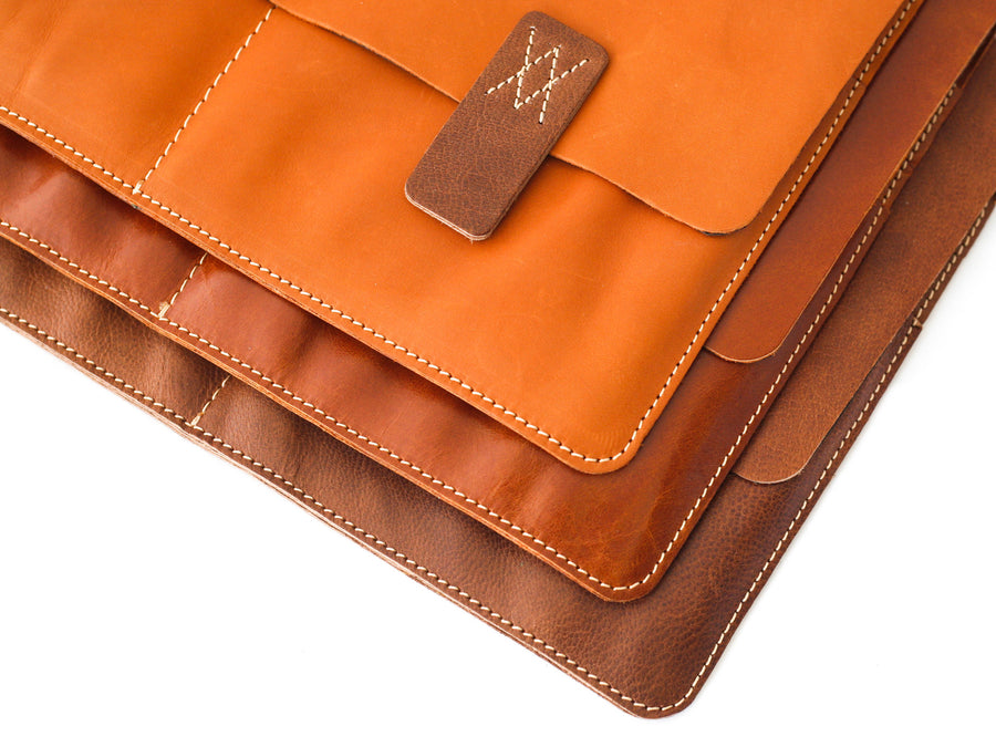 Rusty Brown Premium Natural Leather Cover for MacBook Retina 12