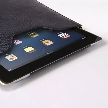 Premium Genuine Black Lizard Leather Sleeve Pouch for iPad - VORYA