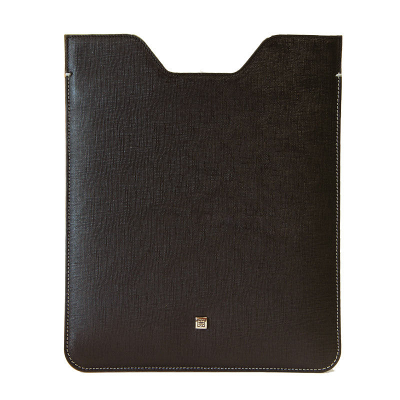 Premium Genuine Black Mountain Leather Sleeve Pouch for iPad - VORYA
