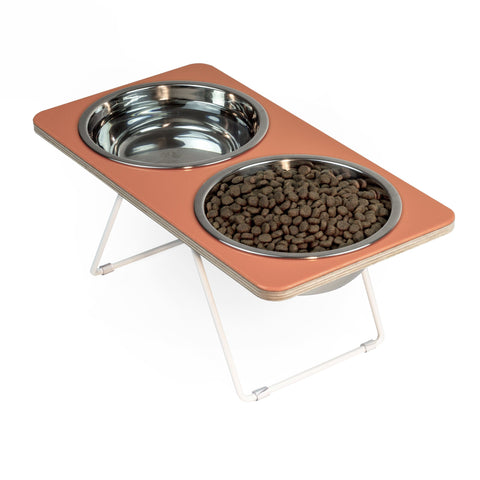 Orange Boxer 2 Ergonomic Pet Feeder