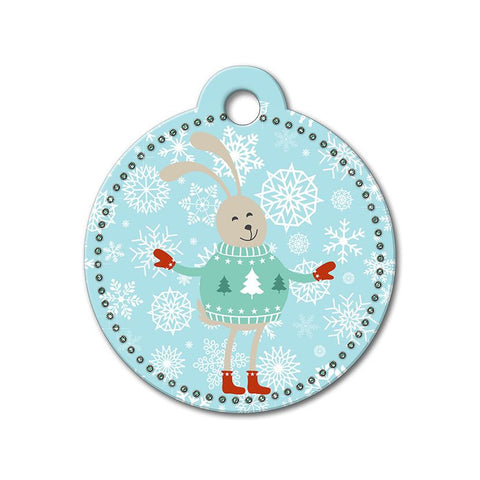 Bunny Holiday Dog Tag - WagAvenue - 1