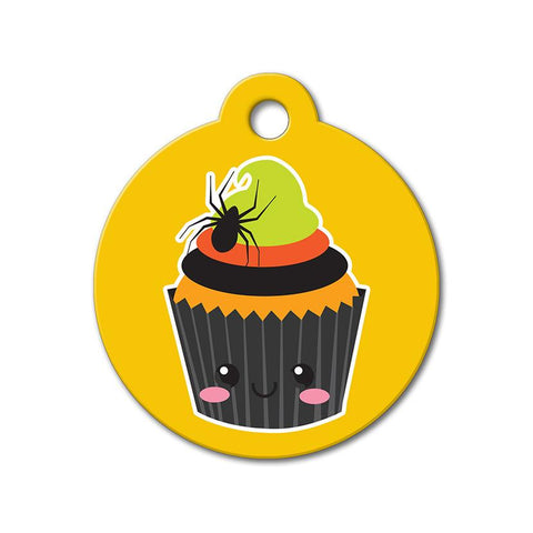 Halloween Cupcake - Halloween Pet Tag - WagAvenue - 1
