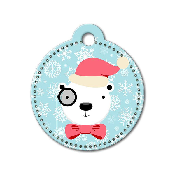 Polar Bear Holiday Dog Tag - WagAvenue - 1