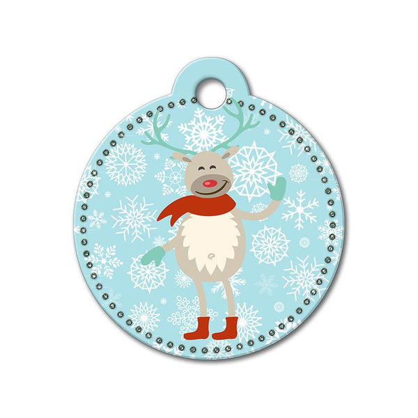 Reindeer Holiday Dog Tag - WagAvenue