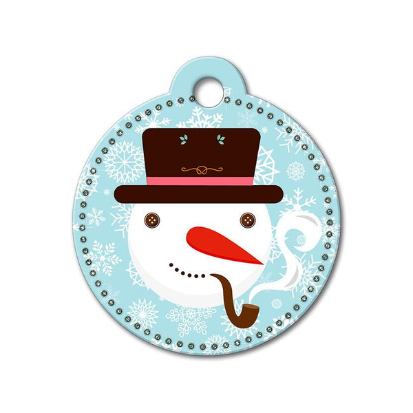 Snowman Holiday Dog Tag - WagAvenue - 1